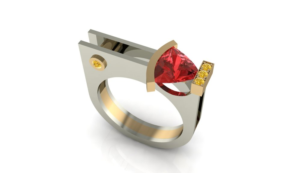 Computer rendered design of the ring